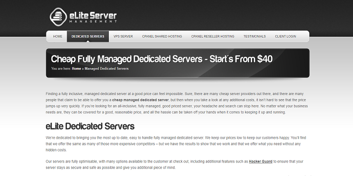 Affordable VPS Web Server With SSD managed dedicated servers